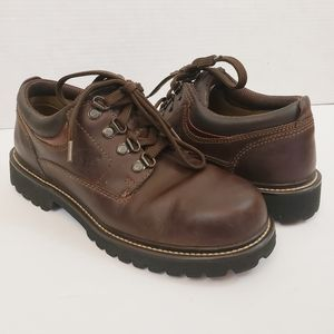 Timberland Laceup Work Shoes Boots Brown Leather 9